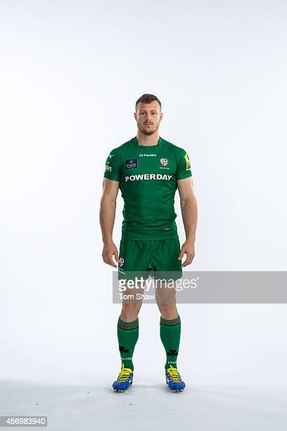 James Short of London Irish poses for a picture during the BT PhotoShoot at Sunbury Training Ground on August 27 2014 in Sunbury England