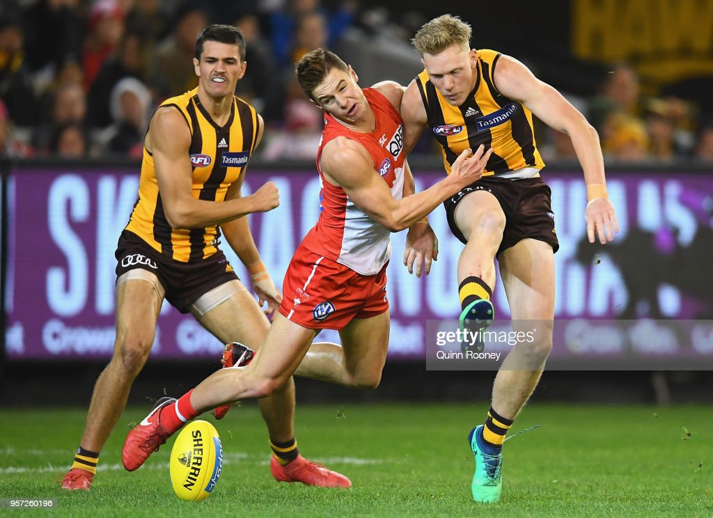 AFL Rd 8 - Hawthorn v Sydney : News Photo