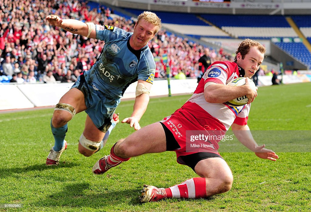 Cardiff Blues v Gloucester - LV Anglo Welsh Cup Semi Final : News Photo