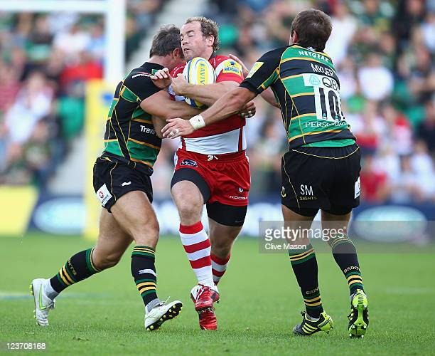 James SimpsonDaniel of Gloucester in action during the AVIVA Premiership match between Northampton Saints and Gloucester at Franklin's Gardens on...