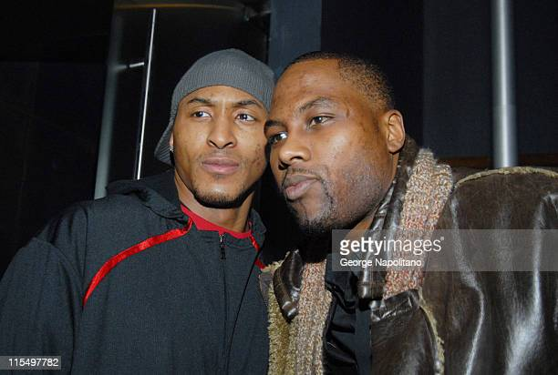 James Singleton and Elton Brand during Super Bowl XLI Cuba Gooding Jr and LA Clippers Super Bowl Party at 40/40 Club in New York City at 40/40 Club...