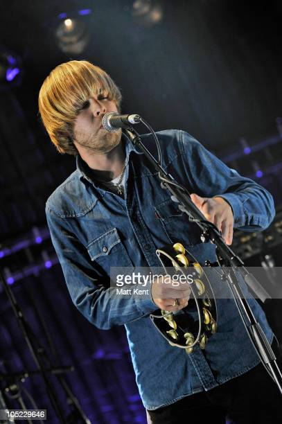 James Skelly of The Coral performs at Barclaycard Mercury Prize Session at The Hospital on October 12 2010 in London England