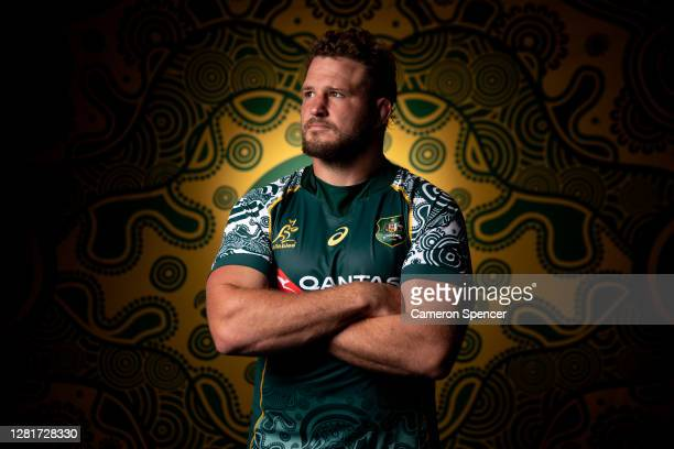 James Slipper of the Wallabies poses during the Australian Wallabies 2020 First Nations Jersey portrait session on October 22 2020 in the Hunter...