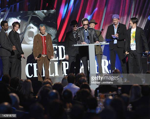 James Slovak accepts an award on behalf of his brother Hillel Slovak of Red Hot Chili Peppersperforms on stage during the 27th Annual Rock And Roll...