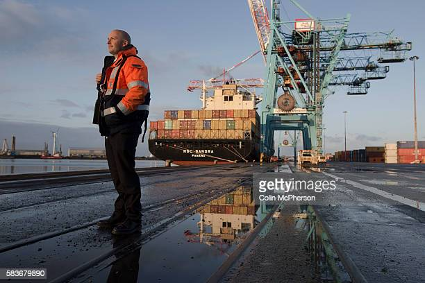 James Smart one of the team of Liverpool pilots employed by Liverpool Pilot Services Ltd to assist in the navigation of shipping in and out of...
