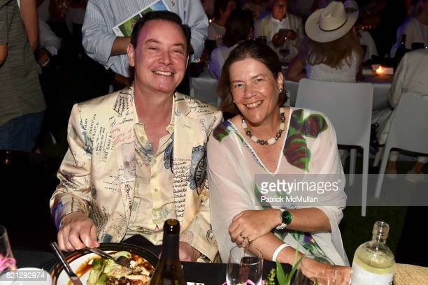 James Solomon and Ariadne CalvoPlatero attend Boom The Cosmic LongHouse Benefit at LongHouse Reserve on July 22 2017 in East Hampton New York
