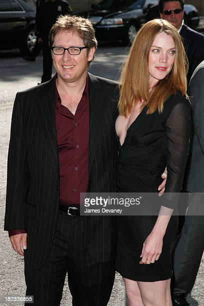 James Spader and fiancee Leslie Stefanson during 2005/2006 ABC UpFront Outside Arrivals at Lincoln Center in New York City New York United States
