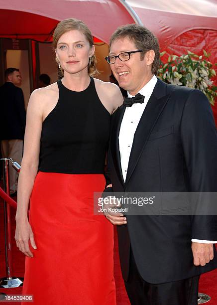 James Spader and fiancee Leslie Stefanson during 57th Annual Primetime Emmy Awards Arrivals at The Shrine in Los Angeles California United States