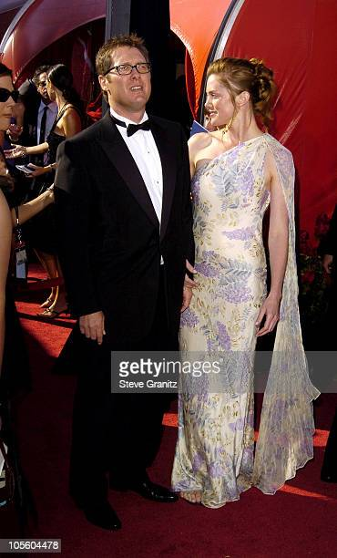 James Spader and fiancee Leslie Stefanson during The 56th Annual Primetime Emmy Awards Arrivals at The Shrine Auditorium in Los Angeles California...
