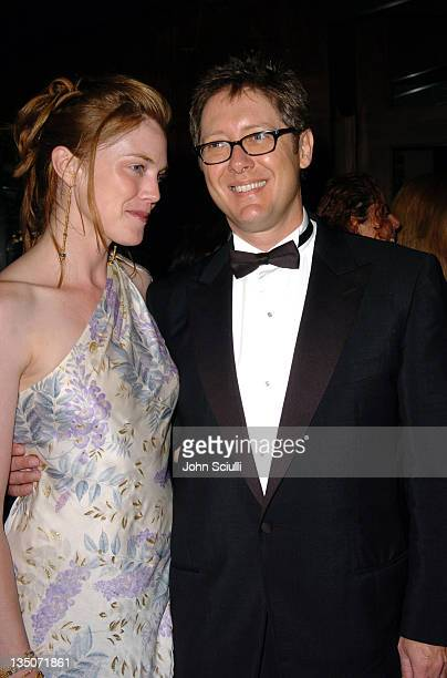 James Spader and fiancee Leslie Stefanson during The 56th Annual Primetime Emmy Awards Fox After Party Arrivals at Spago in Beverly Hills California...