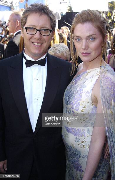 James Spader and fiancee Leslie Stefanson during The 56th Annual Primetime Emmy Awards Red Carpet at The Shrine Auditorium in Los Angeles California...