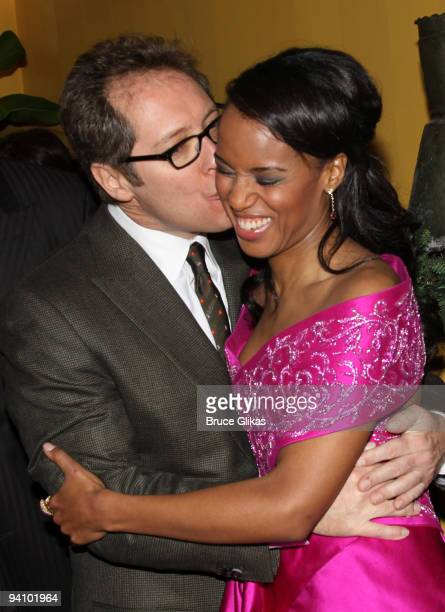 James Spader and Kerry Washington at the opening night after party for Race at the Redeye Grill on December 6 2009 in New York City