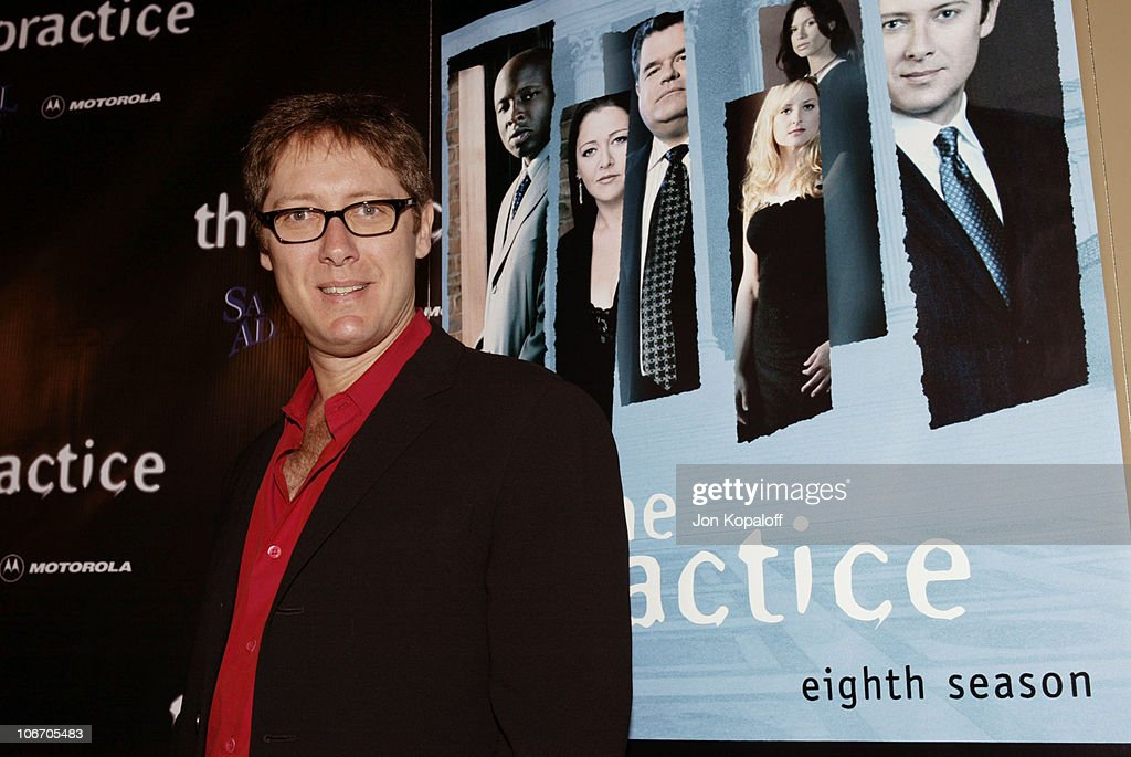 "David E. Kelley and the cast of ABC's hit drama, ""The Practice,"" celebrate the"