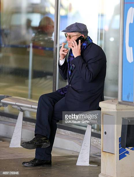 James Spader is seen at LAX on April 09 2015 in Los Angeles California
