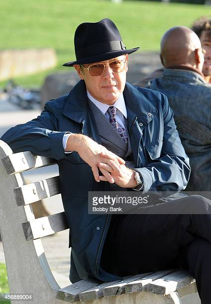 James Spader on the set of 'The Blacklist' on October 8 2014 in New York City