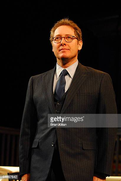 James Spader takes a bow after the Broadway opening night of 'Race' at The Ethel Barrymore Theatre on December 6 2009 in New York City