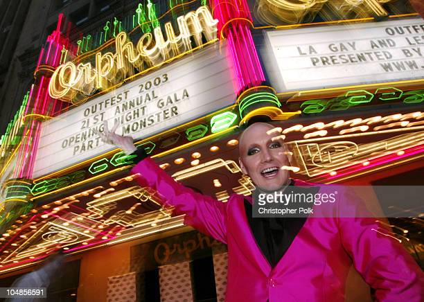 James St. James in front of the Orpheum Theatre during The Opening Night Gala of Outfest featuring Party Monster in Hollywood, CA, United States.
