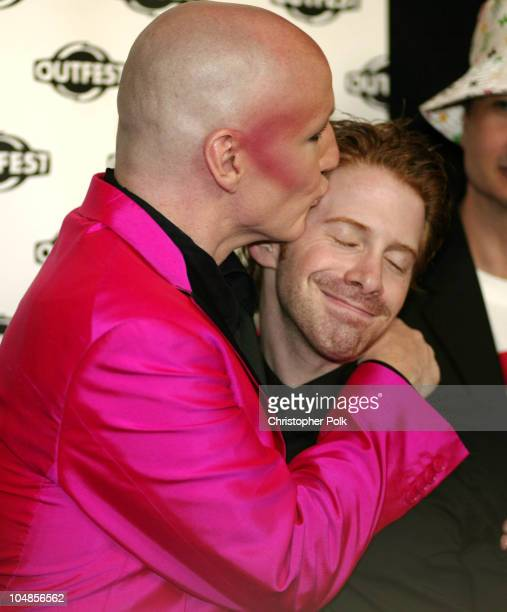 James St. James & Seth Green during The Opening Night Gala of Outfest featuring Party Monster at Orpheum Theatre in Hollywood, CA, United States.