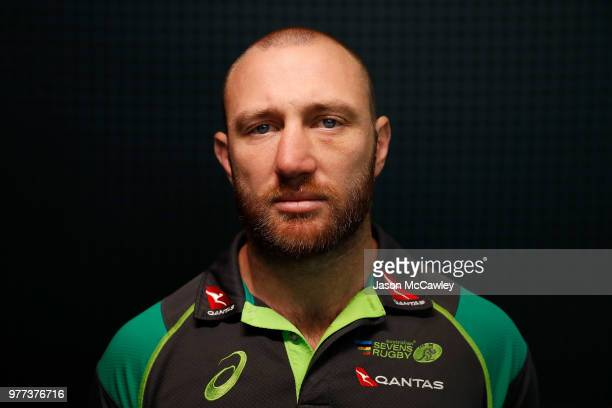 James Stannard poses during a press conference at Rugby Australia HQ on June 18 2018 in Sydney Australia