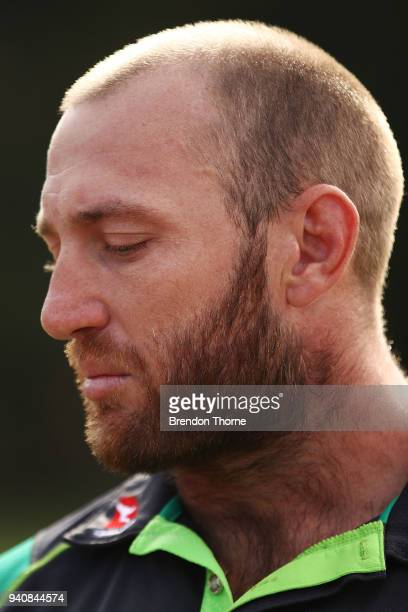 James Stannard speaks to the media during a press conference at Hitchcock Park on April 2 2018 in Sydney Australia