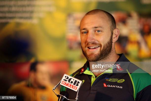 James Stannard looks on during a press conference at Rugby Australia HQ on June 18 2018 in Sydney Australia
