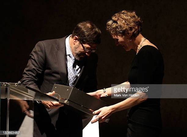 James Steingberg and Melissa James Gibson attend The 2011 Steinberg Playwright Mimi Awards presented by The Harold and Mimi Steinberg Charitable...