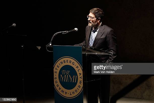 James Steingberg speaks at The 2011 Steinberg Playwright Mimi Awards presented by The Harold and Mimi Steinberg Charitable Trust at Lincoln Center...