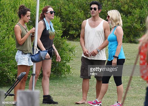 James Stewart and Penny McNameee on set of Home and Away on January 12 2016 in Sydney Australia