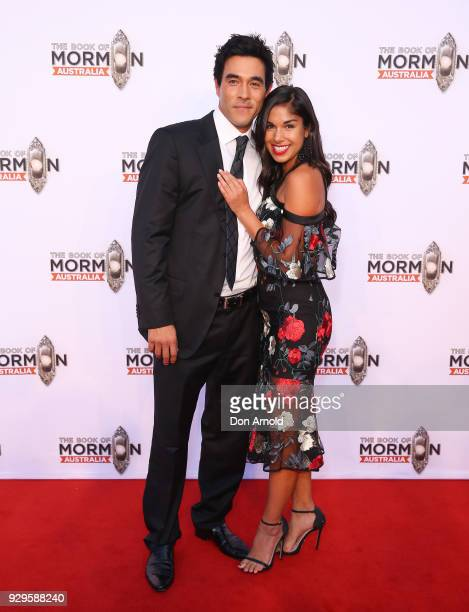 James Stewart And Sarah Roberts Arrives Ahead Of The Book Mormon News Photo
