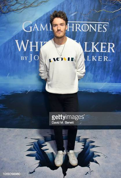 James Stewart attends the Johnnie Walker Frozen Forest popup in Shoreditch to celebrate the launch of the limitededition White Walker by Johnnie...