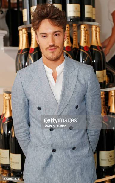 James Stewart attends the Moet Summer House VIP launch night on June 7 2018 in London England