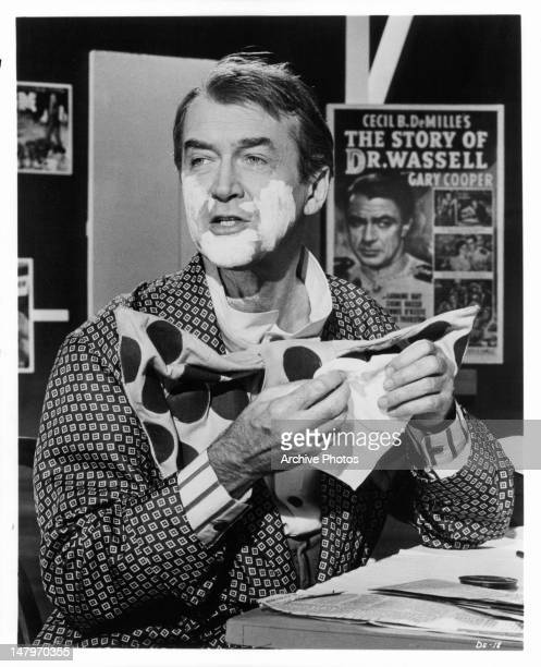 James Stewart dresses up as Buttons the Clown in a scene from the film 'The World's Greatest Showman The Legend Of Cecil B DeMille' 1963