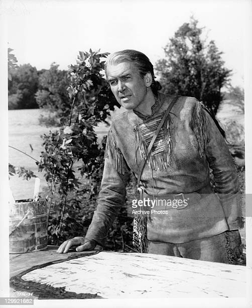 James Stewart plays a legendary mountain man of the far west in a scene from the film 'How The West Was Won' 1962