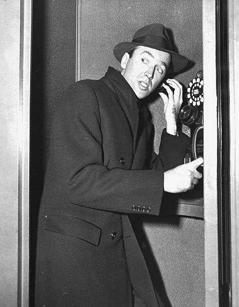 James Stewart Stops To Make A Call At LaGuardia Field On The Wall Art