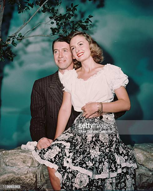 James Stewart , US actor, and Donna Reed , US actress, smiling in a publicity portrait issued for the film, 'It's A Wonderful Life', USA, 1946. The...