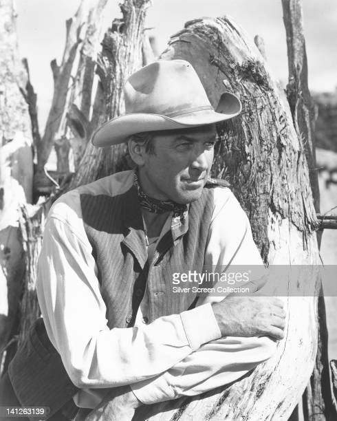 James Stewart US actor in Western costume in a publicity still issued for the film 'The Man from Laramie' 1955 The western directed by Anthony Mann...