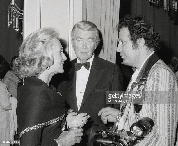 James Stewart with wife Gloria and photographer Ron Galella