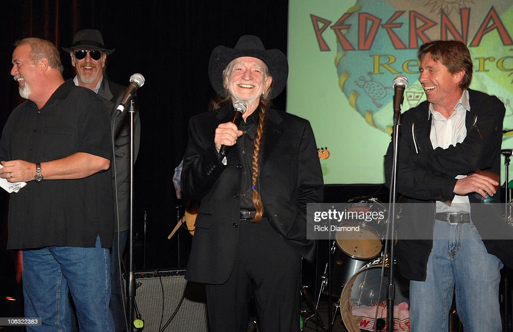 James Stroud, Ray Benson, Willie Nelson, and Freddy Fletcher
