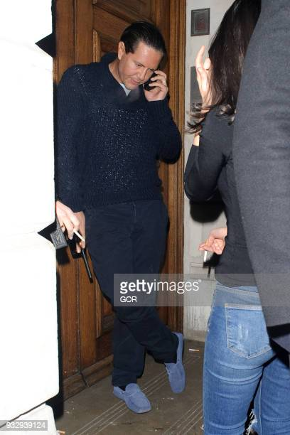 James Stunt sighting at Nobu restaurant Mayfair on March 16 2018 in London England