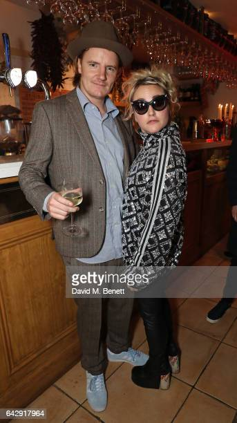 James Suckling and Jaime Winstone attend the Pam Hogg aftershow party during the London Fashion Week February 2017 collections at Bunga Bunga on...