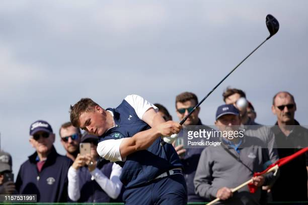 James Sugrue from Ireland during the final of the Amateur Championship at Portmarnock Golf Club on June 22 2019 in Portmarnock Ireland