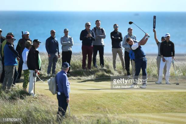 James Sugrue of Ireland in action during the finals on day six of the RA Amateur Championship at Portmarnock Golf Club on June 22 2019 in Portmarnock...