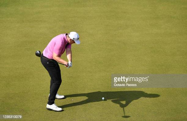 James Sugrue of Ireland plays his tee shot to the 1st hole during Day Two of the Dutch Open at Bernardus Golf on September 17, 2021 in Cromvoirt,...