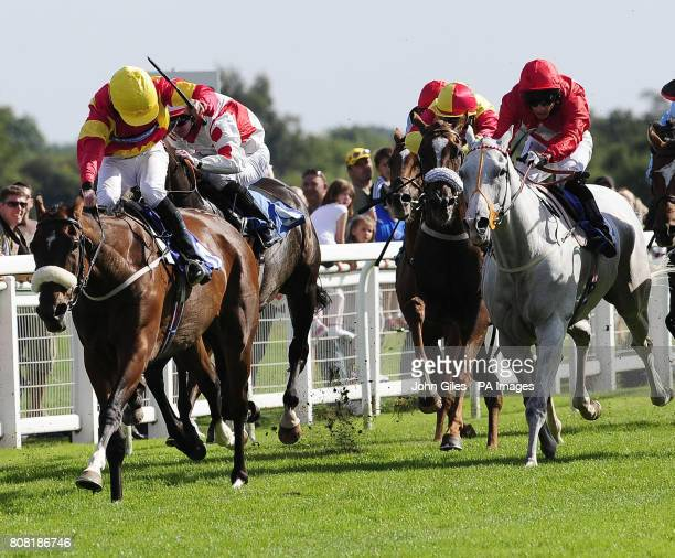 James Sullivan ridden by Ailsa Craig win the City of Ripon Stakes Eddie Ahern and Dark Ranger just get up on the line to beat Paul Hanagan and...