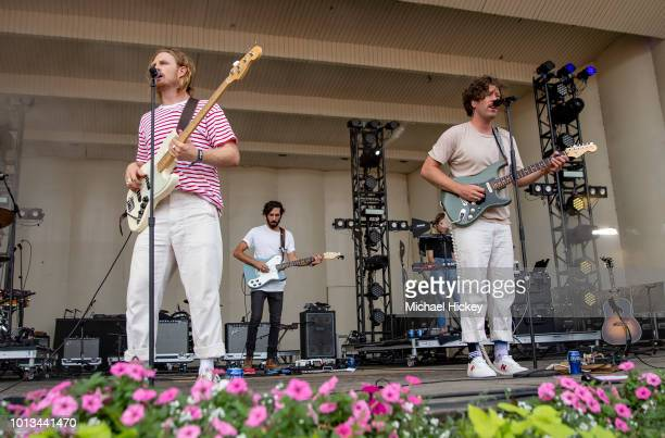 James Sunderland and Brett Hite of Frenship peform on day four of Lollapalooza at Grant Park on August 5 2018 in Chicago Illinois