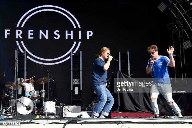 James Sunderland and Brett Hite of Frenship perform at Camelback Stage during day 2 of the 2017 Lost Lake Festival on October 21 2017 in Phoenix...