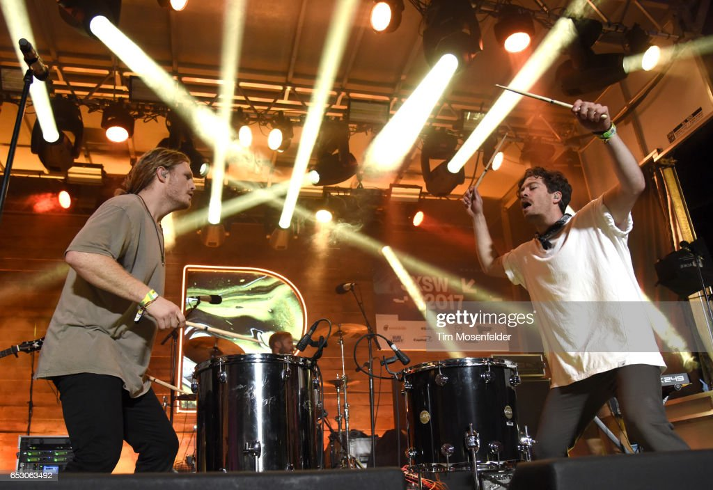James Sunderland (L) and Brett Hite of Frenship perform at the Pandora Night Party during the 2017 SXSW Conference And Festivals on March 13, 2017 in Austin, Texas.