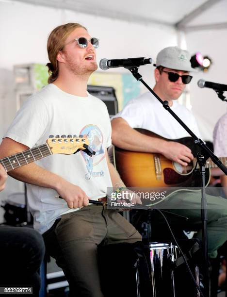 James Sunderland and Brett Hite of Frenship perform at the Toyota Music Den during day 3 of the 2017 Life Is Beautiful Festival on September 24 2017...