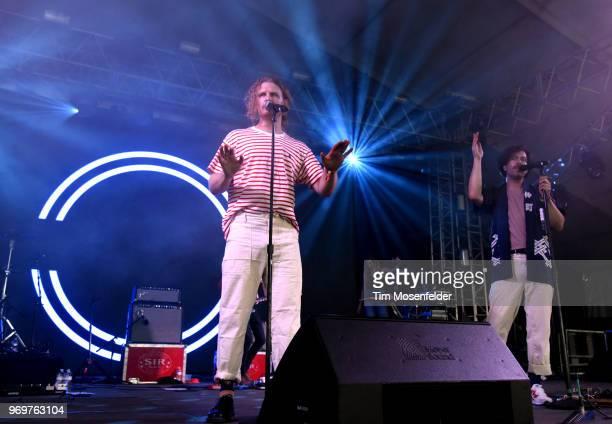 James Sunderland and Brett Hite of Frenship perform during the 2018 Bonnaroo Music Arts Festival on June 7 2018 in Manchester Tennessee