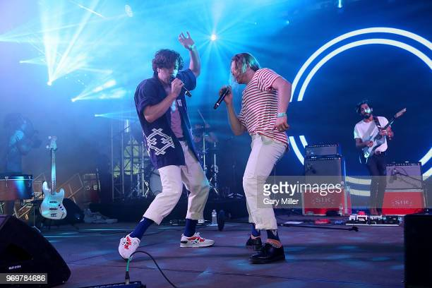 James Sunderland and Brett Hite of Frenship perform in concert during the Bonnaroo Music And Arts Festival on June 7 2018 in Manchester Tennessee